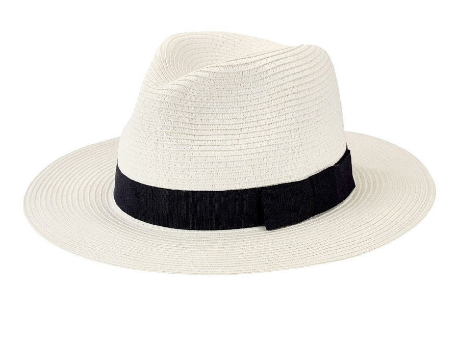 San Diego Men's Paperbraid Fedora with Bow Trim - shaymartian