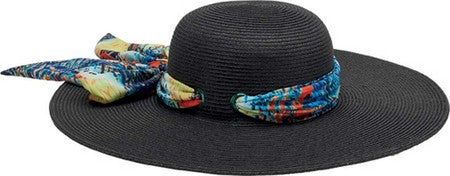 San Diego Women's Floppy with Novelty Scarf Print Hat