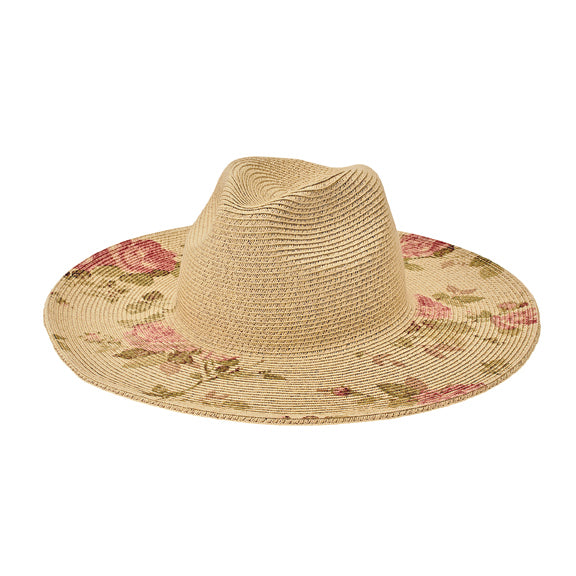 San Diego Women's ultrbraid sun hat with printed floral brim