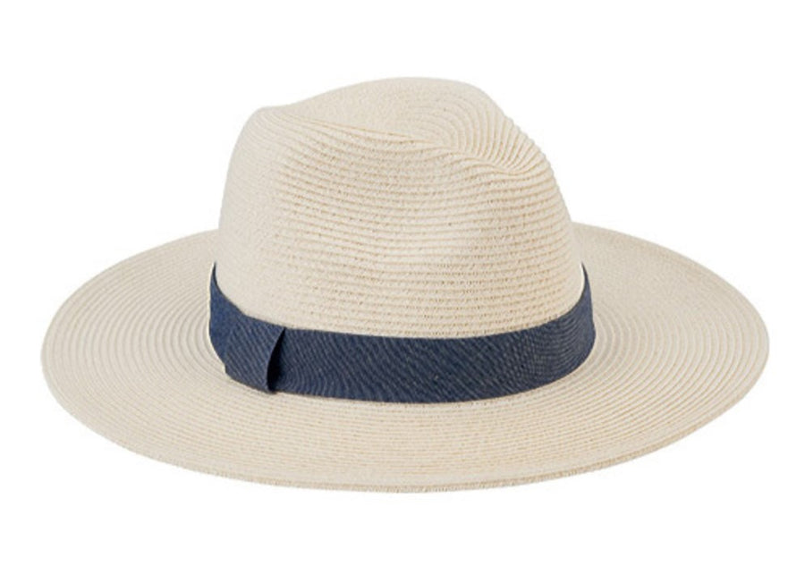 San Diego Women's Fedora with Chambray Band