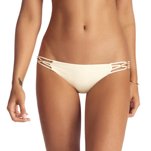 Vitamin A Amber Cream Beaded Hipster Bikini Bottom