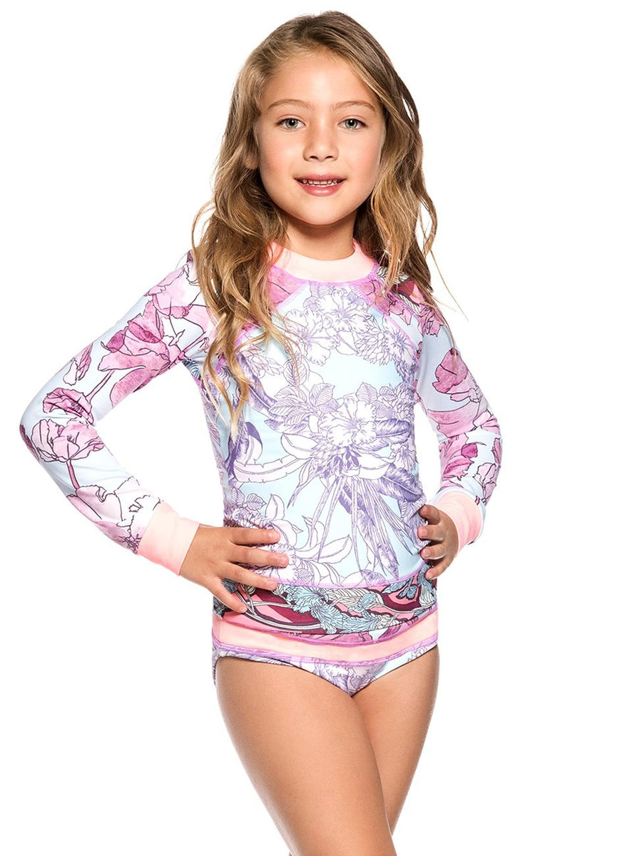 Maaji Swimwear Marshmallow Mount Girls Rashguard Kids - shaymartian