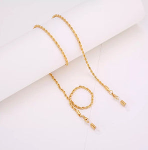 'GOLD' Face Mask Chain Necklace
