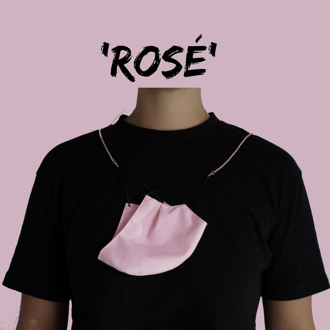 'ROSÉ' Face Mask Chain Necklace