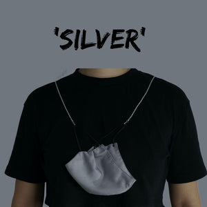 'SILVER' Face Mask Chain Necklace