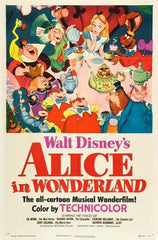 Disney Alice's Adventures in Wonderland Movie Poster