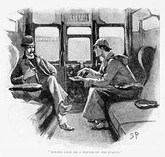 Sherlock Holmes and Dr. Watson on the train