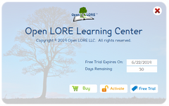 Open LORE™ Learning Center Free Trial
