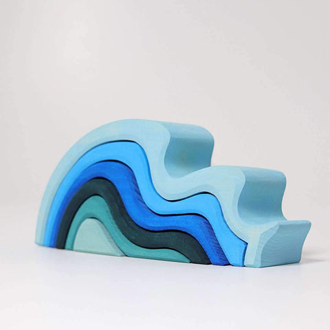 Water Waves, Blue 6pc  (10720)