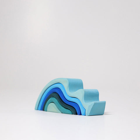 Small Water Waves, Blue 6pc (10770)