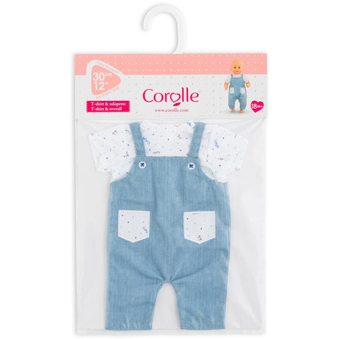 Striped T-shirt Overalls (12in.) - 110370