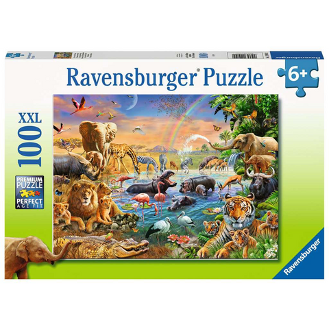 R - Savannah Jungle Waterhole - 100pc (12910)