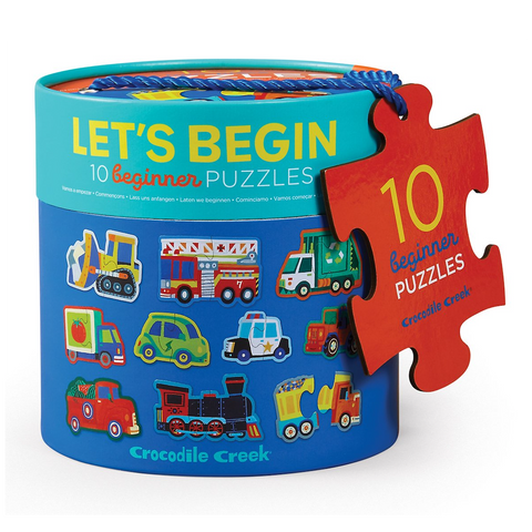CC - Let's Begin 2pc Puzzles - Vehicles
