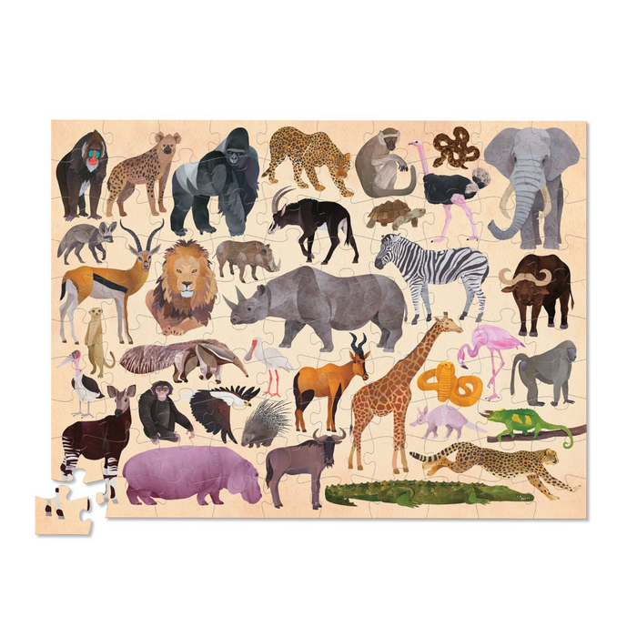 CC - 36 Wild Animals Puzzle - 100pc