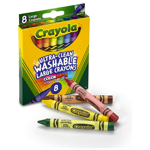Ultra Clean Large Crayons (8 ct) - Washable