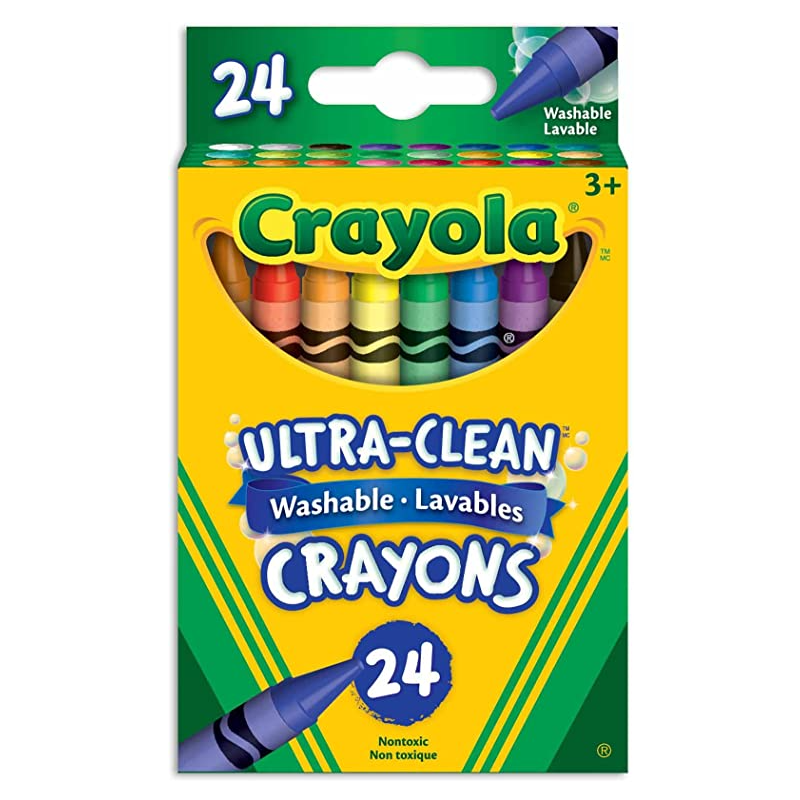 Ultra Clean Crayons (24 ct) - Washable