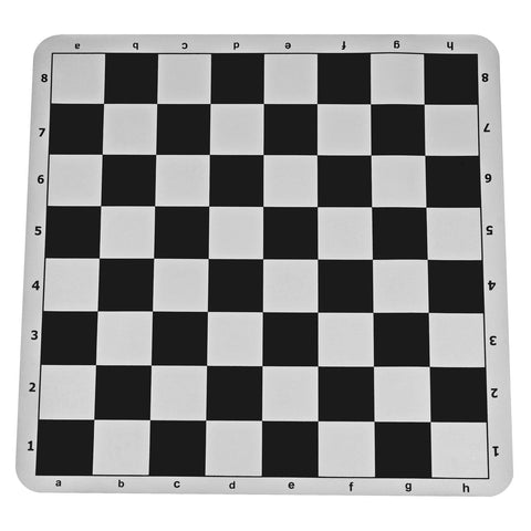 Chess Board, Silicone Roll-Up Black 22''