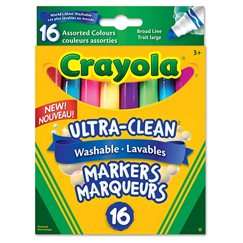 Broad Line Markers Assortment (16 ct) - Washable