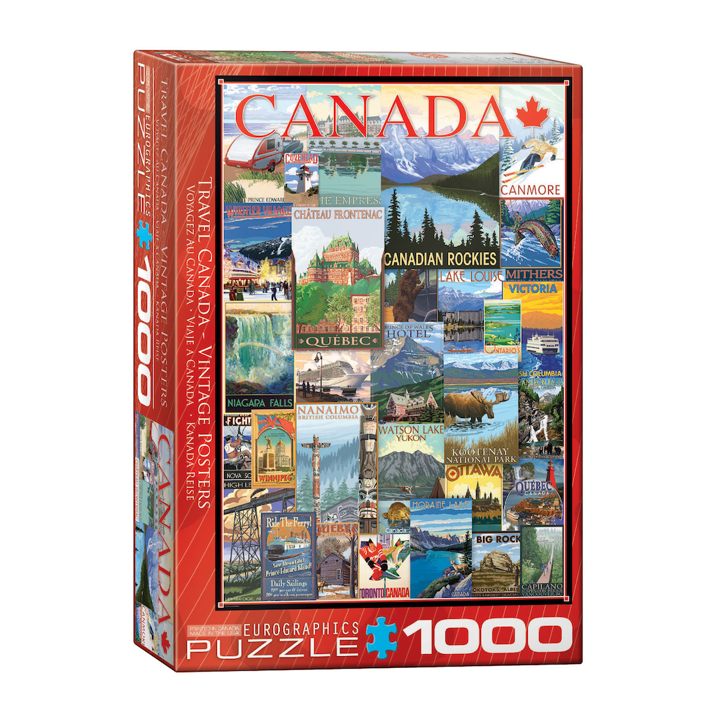 E - Travel Canada Vintage Poster Collage - 1000pc (6000-0778)