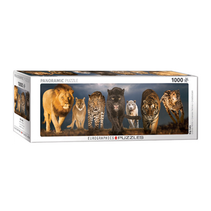 E - Big Cats - 1000pc (Panorama) (6010-0297)