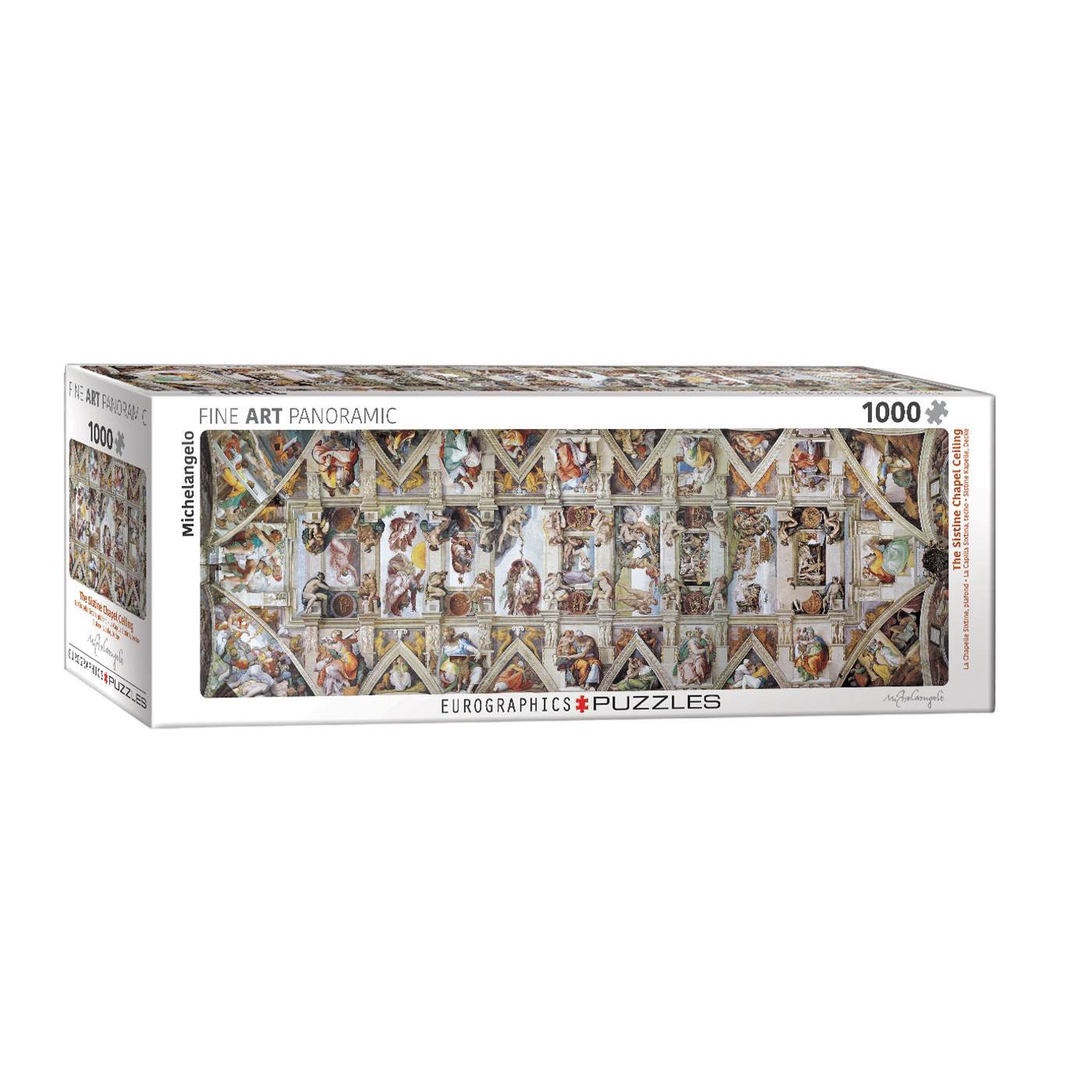 E - The Sistine Chapel Ceiling by Michelangelo - 1000pc (Panorama) (6010-0960)