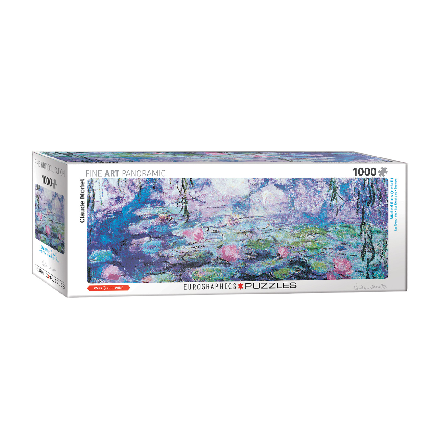E - Waterlilies by Claude Monet - 1000pc (Panorama) (6010-4366)