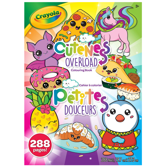 Colouring Book - Cuteness Overload, Epic Book of Awesome (288 pgs)