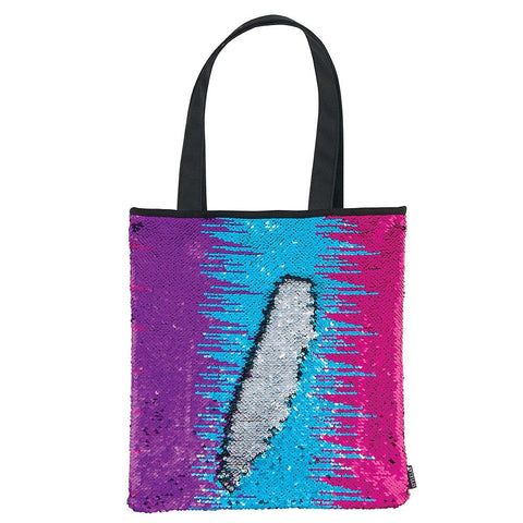 Magic Sequin Multi Color/Silver/Black Tote Bag