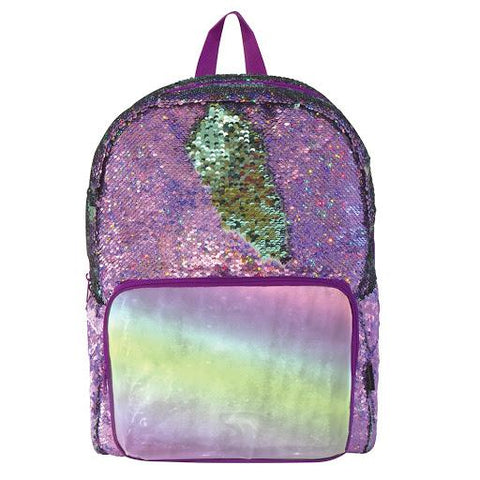 Magic Sequin Backpack-Purple Holo/Seafoam