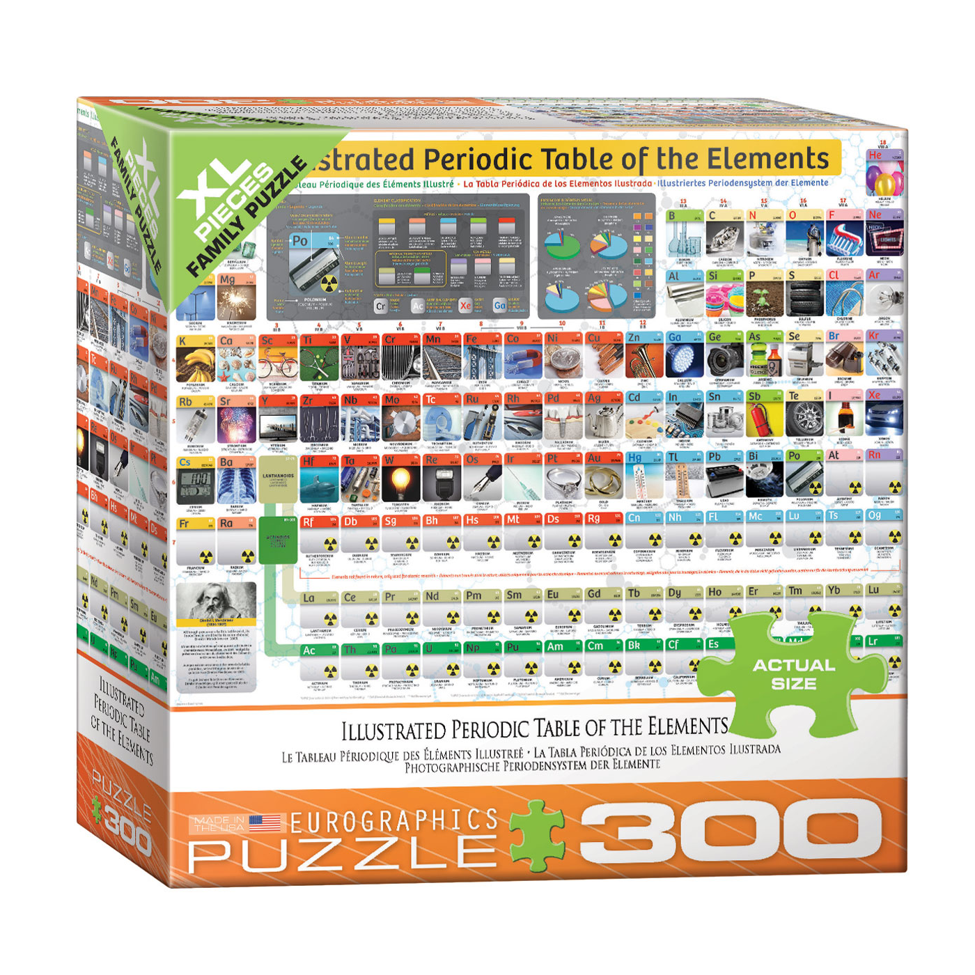 E - Illustrated Periodic Table of Elements - 300pc (Large Format) (8300-5370)