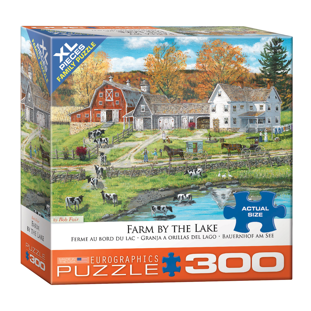 E - Farm by the lake by Bob Fair - 300pc (Large Format) (8300-5382)