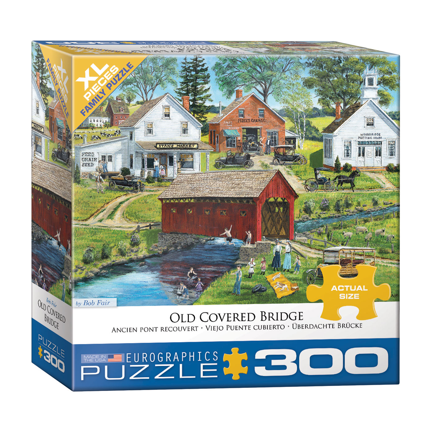 E - Old Covered Bridge - Bob Fair - 300pc (Large Format) (8300-5383)