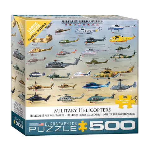 E - Military Helicopters - 500pc (Large Format) (8500-0088)