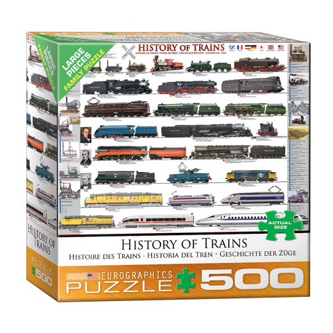 E - History of Trains - 500pc (Large Format) (8500-0251)