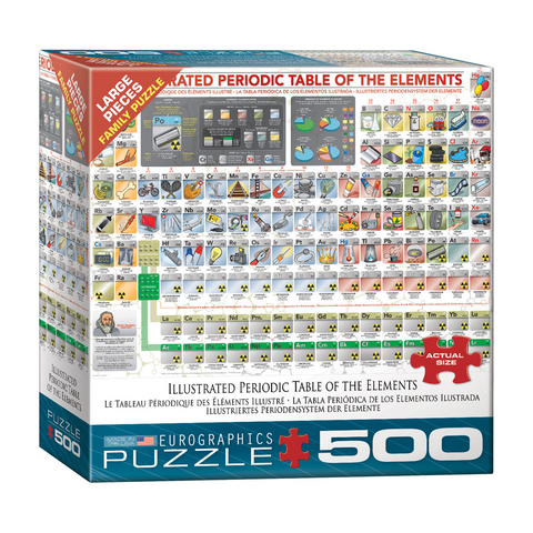 E - Illustrated Periodic Table of the Elements - 500pc (Large Format) (8500-5355)