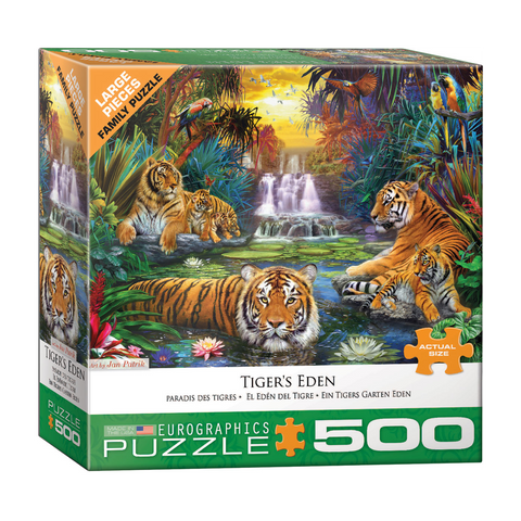 E - Tiger's Eden by Jan Patrik - 500pc (Large Format) (8500-5457)