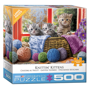 E - Knittin' Kittens - 500pc (Large Format) (8500-5500)