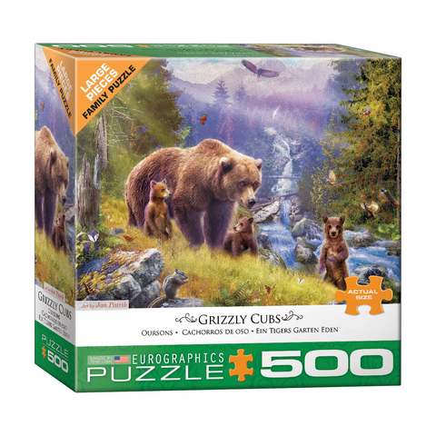 E - Grizzly Cubs by Jan Patrik - 500pc (Large Format) (8500-5546)