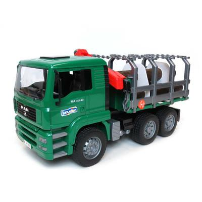 MAN Timber Truck w/ Loading Crane and 3 Trunks (02769)