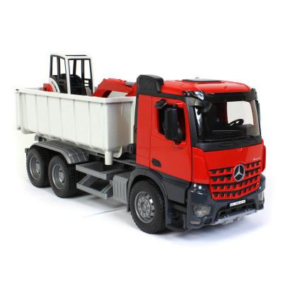MB AROCS Truck w/ Roll-Off-Container w/ Mini Excavator (03624)