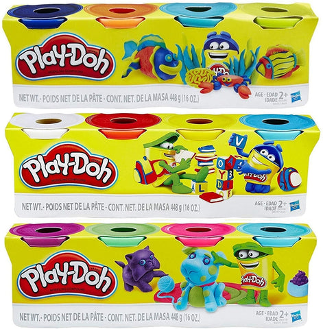Play-Doh 4-Pack 4 oz Can Assortment (HAS)