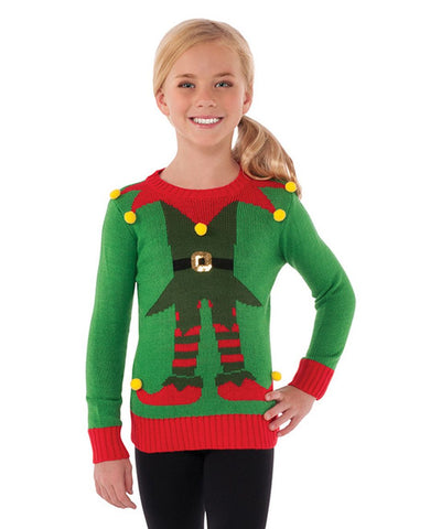 Children's Christmas Sweater Elf Large