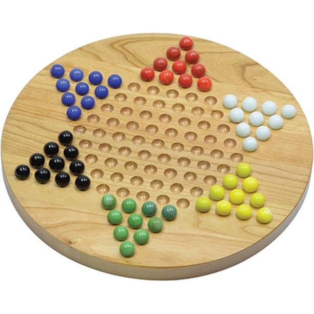 Chinese Checkers - 7 in. Wood Board (EV)