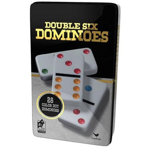 Double 6 Colour Dominos (Black/Gold Tin) (KR)+