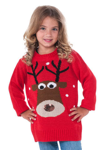 Children's Christmas Sweater Rudolph Large