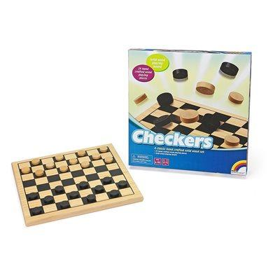 Wooden Checkers (LR)