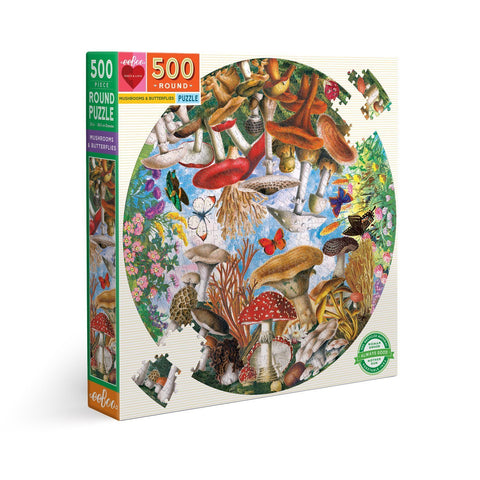 Mushrooms and Butterflies - 500pc (Round)
