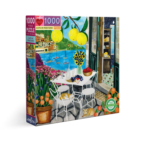 Cats in Positano - 1000pc (Square)