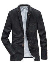 Load image into Gallery viewer, Men's Denim Causal Jakcet Blazer