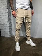 Load image into Gallery viewer, Casual Solid Drawstring Men' Pants